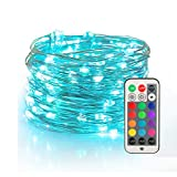 YIHONG Fairy Lights USB Plug-in String Lights with RF Remote 33ft Twinkle Lights Color...