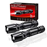InkoTimes LED Tactical Flashlight - i1800S Powerful High Lumen Zoomable Waterproof Flashlight - Best...