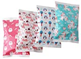 Ice Pack for Lunch Boxes - 4 Reusable Packs - Girls Prints - Keeps Food Cold - Cool Print Bag...