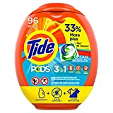 Tide PODS Laundry Detergent Liquid Pacs, Clean Breeze Scent, HE Compatible, 96 Count (Packaging May...