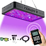 FAMURS 1500W LED Grow Light, Remote Control-Series Grow Lamp with Timer/Thermometer Humidity Monitor...