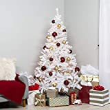 Best Choice Products 6ft Premium Hinged Artificial Christmas Pine Tree w/ 250 Lights, Metal Stand,...
