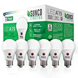 Sunco Lighting 6 Pack A19 LED Bulb with Dusk-to-Dawn, 9W=60W, 800 LM, 3000K Warm White, Auto On/Off...