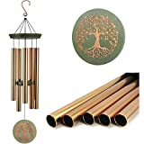 Wind Chimes Outdoor Deep Tone,36'Large Memorial Windchimes Amazing Grace with 5 Tuned Metal...