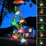 Topspeeder Color-Changing LED Solar Mobile Wind Chime LED Changing Light Color Waterproof Six...