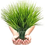 Artificial Plants Outdoor UV resistant Faux Plastic Wheat Grass Fake Leaves Shrubs Window Box...