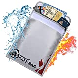 Fireproof Document Bags-15x11' Fireproof Safe Bag- Non-Itchy, Water Resistant Fireproof Pouch with...