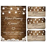 How Many Kisses   Candy Jar Guessing Game   50 Cards and Matching Sign   Bridal Shower Activity and...