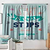 All of better Quotes Blackout Window Curtain Encouraging Classic Phrase Notes The Start is What...