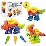Kidtastic Dinosaur Toys - STEM Learning Original (106 pieces), 3 pack Take Apart Fun, Construction...