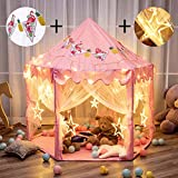 Twinkle Star 55'x 53' Princess Castle Play Tent for Girls Playhouse with 138 LED Star String Lights...