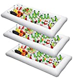 Inflatable Serving Bar Salad Ice Tray Food Drink Containers - BBQ Picnic Pool Party Supplies Buffet...
