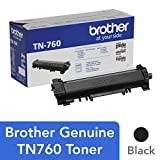 Brother Genuine High Yield Toner Cartridge, TN760, Replacement Black Toner, Page Yield Up To 3,000...