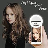 [Updated] LST Selfie Ring Lighting Rechargeable [38 LED] Dimmable Clip Light Portable for iPhone,...