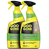Goo Gone Grout and Tile Cleaner - 28 Ounce - Removes Tough Stains Dirt Caused by Mold Mildew Soap...