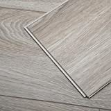 Diflart Cantha Oak 23.6 sq.ft Waterproof Vinyl Plank Flooring Click Together 48x7 inch Lvt Flooring...