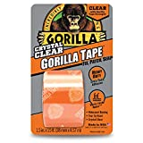 Gorilla 6015002 Crystal Duct Tape, 1.5' x 5 yd, ((Pack of 1), Clear