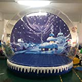 JYNselling 2M 3M Christmas Decor Airblown Inflatable Snow Globe Transparent Bubble with Blower (3m...