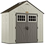 Suncast 4' x 8' Tremont Storage Shed with Windows - Outdoor Storage for Backyard Tools and...