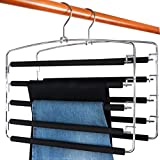TOPIA HANGER Pants Hangers Slacks Hangers 2 Pack, Swing Arm Slack Hanger, Space Saving Non-Slip Foam...