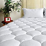 BEL TESORO Mattress Pad Cover Queen Cooling Soft Mattress Topper Combed Cotton Filled Stretches Up...