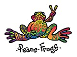 Enjoy It Peace Frogs Hope Peace Frogs Car Sticker, Outdoor Rated Vinyl Sticker Decal for Windows,...