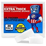 STK 20 Pack Extra Thick Magic Cleaning Pads - Eraser Sponge for All Surfaces -...