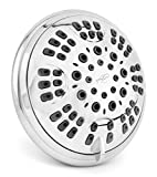 6 Function Adjustable Luxury Shower Head - High Pressure Boosting, Wall Mount, Bathroom Showerhead...