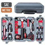 Hi-Spec 50 Piece Home Tool Set of Hand Tools - Claw Hammer, Adjustable Wrench, Precision...