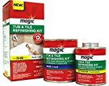 Magic Tub and Tile Refinishing Kit - Bright White - Paint On - Works On Ceramic Porcelain Acrylic...