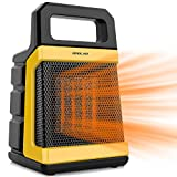1500W Ceramic Space Heater with Adjustable Thermostat, Fast Heating for Small and Middle Rooms,...