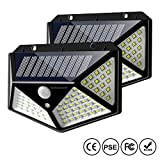 Solar Motion Sensor Lights Outdoor, IC ICLOVER New Upgraded 100 LED Waterproof Security Wall Night...