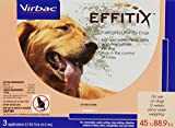 Virbac Effitix Flea/Tick Topical Solution, Large Dog, 3 Count