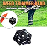 Tokenhigh Outdoor Weed Trimmer Head Lawn Mower Sharpener Carbon Steel Trimmer Head for Power Hand...