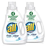 all Liquid Laundry Detergent, Free Clear for Sensitive Skin, 46.5 Fluid Ounces, 2 Count, 62 Total...