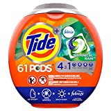 Tide PODS Laundry Detergent Liquid Pacs, Botanical Rain Scent, 4 in 1 HE Turbo, 61 Count Tub...