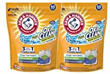 Arm & Hammer Plus OxiClean 3-in-1 HE Laundry Power Paks, 2 pack, 50 count pods, 100 loads