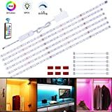 maylit Under Cabinet Lighting, 19.68inch RGB Flexible Led Closet Light with 24Key Remote,Color...