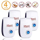 Fire Tracks Limited Ultrasonic Pest Repeller(4 Packs),Electronic Indoor Plug in for Insects Mice Ant...
