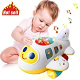 HOMOFY Baby Toys Electronic Airplane Toys with Lights & Music ,Best Kids Early Learning Educational...