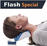 CHIROPRACTIC PILLOW - Cervical Neck Pillow to help ease Neck Pain and Shoulder Pain and Provide...