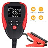 Digital 12V Car Battery Tester Pro with AH/CCA Mode Automotive Battery Load Tester and Analyzer of...