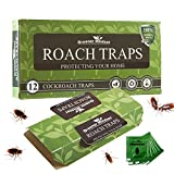 Greener Mindset 12 Pack Cockroach Traps with Bait Included | Premium Glue Trap | Eco-Friendly |...