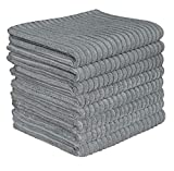Gryeer Microfiber Kitchen Towels - Super Absorbent Dish Towels - One Side Ribbed One Side Smooth Tea...