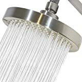 High Pressure Shower Head by Circle Splash -6 inch Brushed Nickel fixture-luxury rainfall...