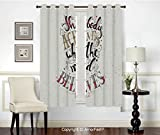 PUTIEN Blackout Curtains Room Darkening Thermal Insulated Bedroom Curtains,2 Panels,42x54 Inch...