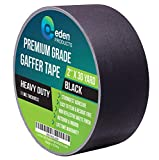 Real Premium Grade Gaffer Tape 2' X 30 Yards by EdenProducts, Strongest On The Market, Residue Free,...