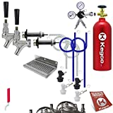 Kegco EBDHCK2-5T Deluxe Homebrew Two Tap Door Mount Kegerator Conversion Kit with 5 lb. Aluminum CO2...