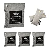 6 Pack - Activated Charcoal Deodorizer Odor Neutralizer Bags Complete Pack (1x 500g, 3x 200g & 2x...