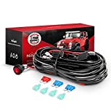 Nilight LED Light Bar Wiring Harness Kit 12V On Off Switch Power Relay Blade Fuse for Off Road...